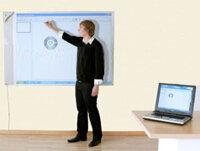 Halvmatt Whiteboard Alu 300x122 cm